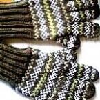 フェアアイル柄の手袋