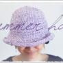 春夏帽子【100均糸で】の編み方♪折りたためる!