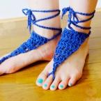 ベアフットサンダルの簡単な編み方・作り方