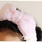 かぎ編み・リボンのヘアバンドの編み方