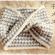 千鳥格子のメビウス・スヌードの編み方