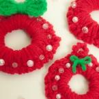 かぎ編みカンタンなクリスマスリースの作り方・編み方