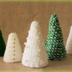 かぎ編みの簡単なクリスマスツリーの作り方♪