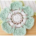お花のコースターの編み方【かぎ針編み】