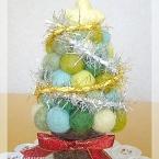 羊毛フェルトのクリスマスツリー