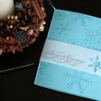 雪模様のカード