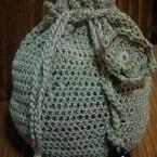 コットン糸で作った巾着