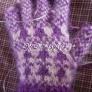 きのこの編み込み手袋