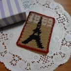 かぎ針編みアップリケ ―エッフェル塔―