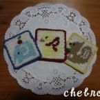 かぎ針編みアップリケ―動物シリーズ―