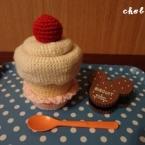 苺のふんわりカップケーキ