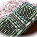 キラキラ編みバッグ