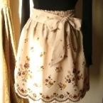 ウエストゴムなのにかわいく出来る、かんたんスカート