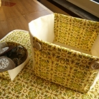 型紙いらず・ハギレでつくるキューブ型ボックス
