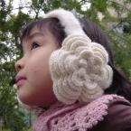 お花のイヤーマフ(耳あて)