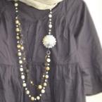 シェルパーツのネックレス
