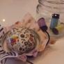 裁縫ビン 空き瓶で。