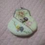 ◇リボン刺繍のがま口財布◇