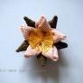 古布で作る桜の花