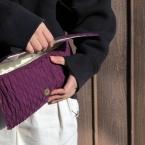 家庭用ミシンでつくれるニットクラッチバッグ