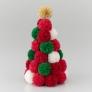 スーパーポンポンメーカーでクリスマスカラーのツリー