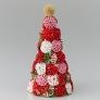ちくちくヨーヨープレートでクリスマスカラーのツリー