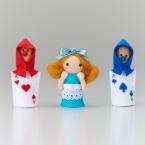 フェルトパンチャーで作る アリスの指人形