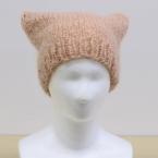 モヘアハンドレッド<太>1玉で編む ねこ耳ニット帽