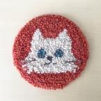パンチニードルで作る ネコのマット