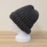 [ムービー]モヘアハンドレッドイギリスゴム編み帽子