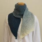 ランドスケープで編む ななめ編みのマフラー