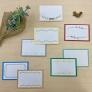 紙刺しゅうで彩る メッセージカードの装飾図案
