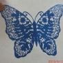 蝶の切り絵①
