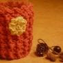 かぎ針編みのコーヒーカップカバー