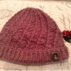 実はシンプル*かぎ針編みのニット帽