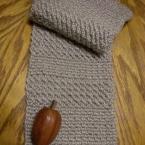 かぎ針編みで男性ものマフラー!