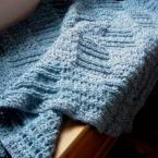 パッチワーク風 かぎ針編みのブランケット
