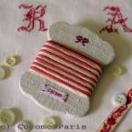 リネンの糸巻きカード