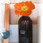 飴いろ空き瓶でアンティーク風花瓶