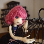 羊毛フェルト 人形 女の子17