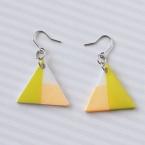 プラバンとマステを使った、三角フックピアス