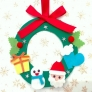 フェルトで作るクリスマスリース