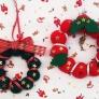 フェルトボールで作るクリスマスリース