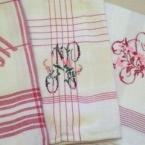 食器用布巾 モノグラム刺繍