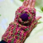 お花の指なし手袋☆