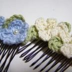 お花のヘアコーム