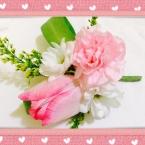 生花のコサージュ