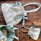 リボン巾着バッグの作り方/裏地付き・フリル口