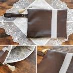 100均DIY・合皮ハギレでクラッチバッグの作り方