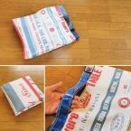 持ち手一体型の簡単エコバッグの作り方
